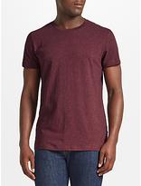 Samsoe & Samsoe Kronos Crew T-shirt, Red Black Melange