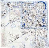 Faliero Sarti drawing print scarf