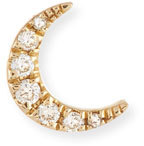 Ef Collection Diamond Mini Moon Single Stud Earring