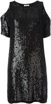 P.A.R.O.S.H. cold shoulder sequin dress