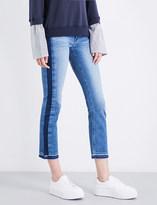 Hudson Tilda released-hem cigarette cropped mid-rise jeans