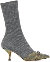 Marco De Vincenzo ribbed sock boots