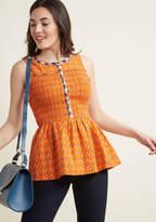 Uplifting Idea Sleeveless Top in XXS - A-line Waist by ModCloth