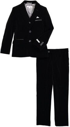 Isaac Mizrahi 3-Piece Solid Velvet Suit (Toddler, Little Boys, & Big Boys)