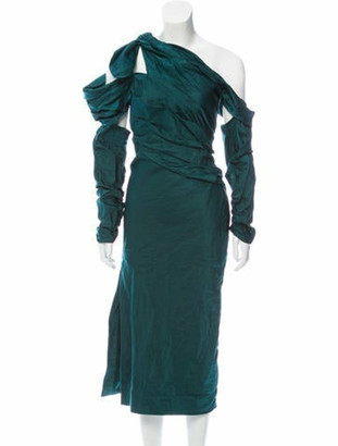 Monse Cold-Shoulder Evening Dress w/ Tags green