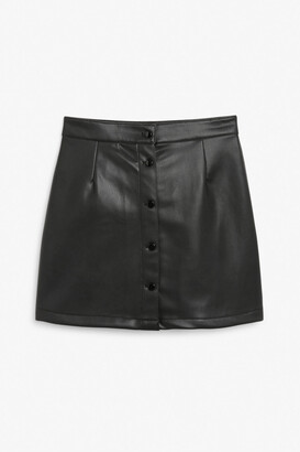 Monki Faux leather mini skirt