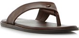 Dune Ignite Leather Sandals, Brown