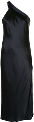 Mason by Michelle Mason Embellished One-Shoulder Dress