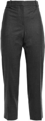 Theory Treeca Melange Wool-blend Flannel Tapered Pants