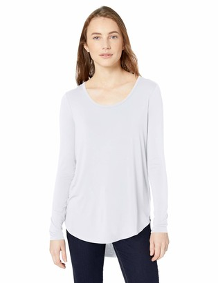 Daily Ritual Womens Jersey Long-Sleeve Bateau-Neck T-Shirt Brand