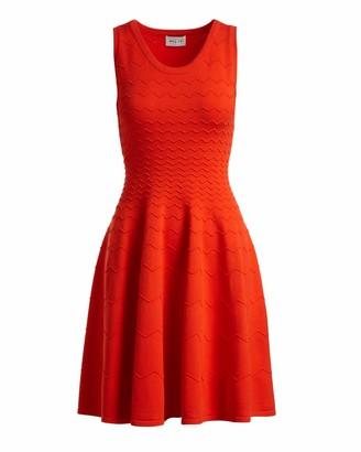 Milly Women's Degrade Chevron Flare Dress