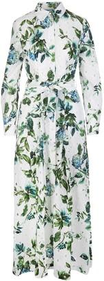 Blumarine Floral Print Long Dress