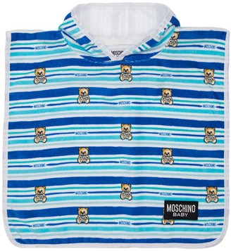 Moschino Striped Cotton Hooded Terrycloth Towel