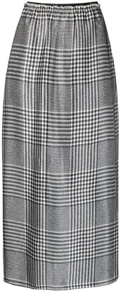 MM6 MAISON MARGIELA Prince of Wales straight skirt