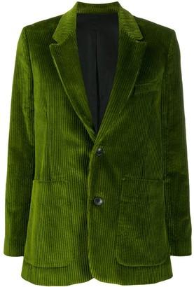 AMI Paris Corduroy Single-Breasted Blazer