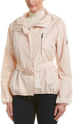 Moncler Silk-Lined Short Rain Jacket