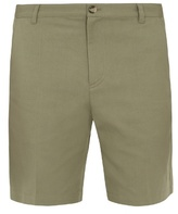 A.p.c. Lawrence Cotton And Linen-blend Shorts
