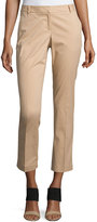 Laundry by Shelli Segal Straight-Leg Cropped Pants, Tan