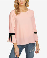 CeCe Crepe Bow-Sleeve Blouse