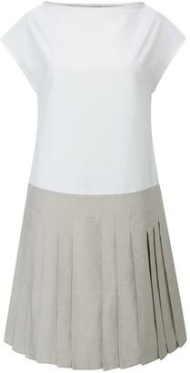 BEIGE Brigit Dress White &