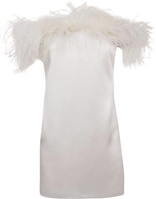 Saint Laurent Fur Applique Sleeveless Dress