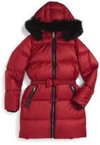 Burberry Consillia Down Parka with Genuine Fox Fur Trim (Toddler Girls, Little Girls & Big Girls)