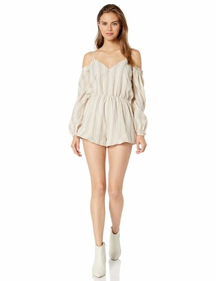 The Fifth Label Women's Voyage Cold Shoulder Sleeve Romper Playsuit