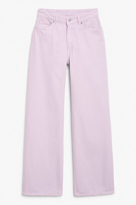 Monki Yoko purple jeans