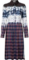 Altuzarra tie-dye plaid shirt dress