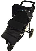 Footmuff / Cosy Toes Compatible with Out n About Nipper Single 360 Pushchair Black Jack by For-your-Little-One