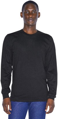 American Apparel Men's Organic Fine Jersey Crewneck Long Sleeve T-Shirt
