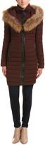 Mackage Kaylina Leather-Trim Coat