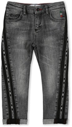 Philipp Plein Junior Logo Tape Jeans (4-16 Years)