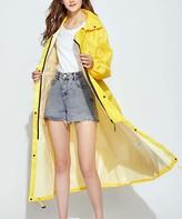 Kance Women's Rain Coats yellow - Yellow Hooded Swing Raincoat - Women & Juniors