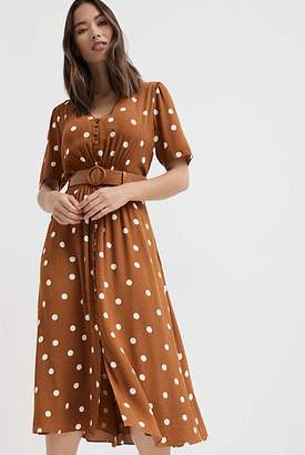 Witchery Spot Button Dress