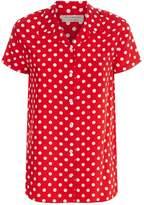 Burberry Polka Dot Silk Shirt