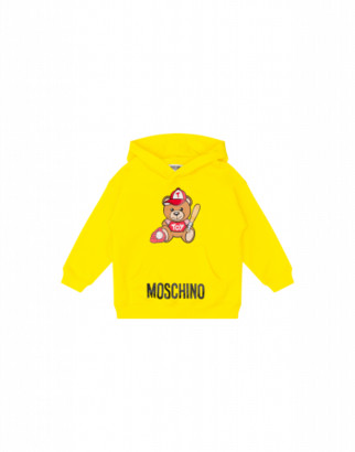 Moschino Baseball Teddy Bear Sweatshirt Unisex Yellow Size 4a It - (4y Us)