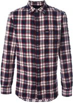 Diesel creased plaid shirt