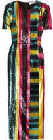 Diane von Furstenberg Sequined Tulle Midi Dress - Teal