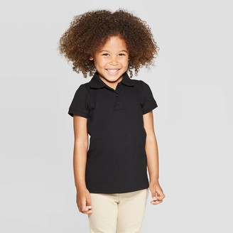 Cat & Jack Toddler Girls' Short Sleeve Pique Uniform Polo Shirt - Cat & JackTM