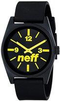 Neff Unisex NF0201BKYW Daily Analog Display Japanese Quartz Black Watch