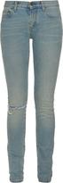 Saint Laurent Distressed mid-rise skinny jeans