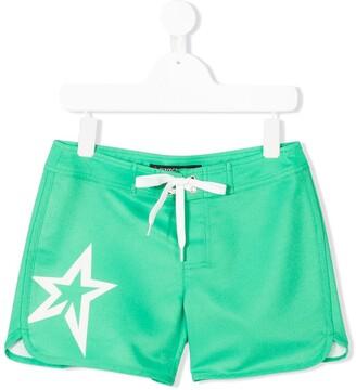 Perfect Moment Kids Star Print Swim Shorts