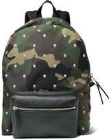 Alexander McQueen Printed Canvas and Leather Backpack