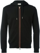 Moncler striped trim zipped hoodie