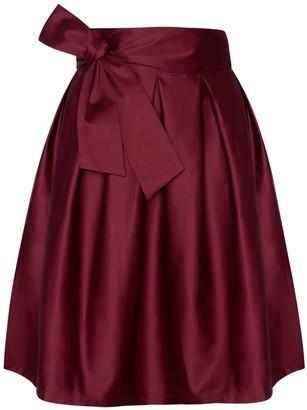 Menashion Wrap Skirt 50S Red