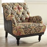 Pier 1 Imports Chas Coal Gray & Red Armchair