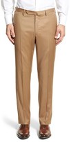 Incotex Men's 'Benson' Regular Fit Flat Front Solid Wool Trousers