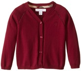 Burberry Cotton Cardi with Lacehole Detail Girl's Sweater