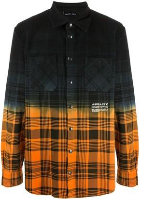 Mauna Kea Tie-Dye Check Pattern Shirt